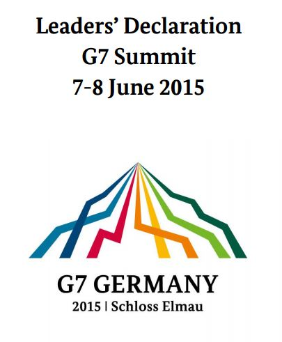 G7 Leaders' Declaraion COVER GRAPHIC