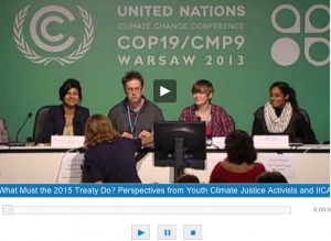 PC 2 Youth Activists at COP 19 Warsaw